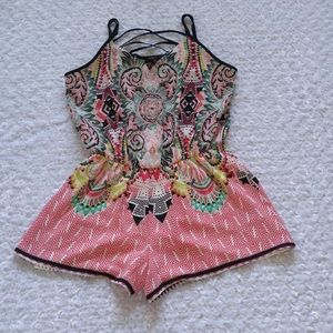 Mm Pants - Mmm Kosp Black Paisley Romper size XL